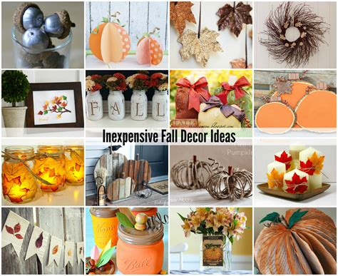 cheap fall decorations for home inexpensive fall decorating ideas the idea room decoration