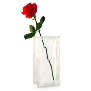 Single Rose Bud Vase Single Red Rose In A Glass Block Vase Lovely Romantic