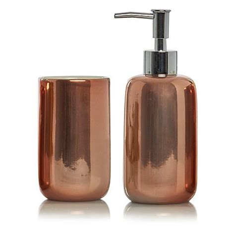 copper bathroom accessories sets george home copper bath accessories range bathroom