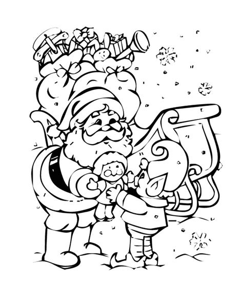 what color is santa claus santa claus and an coloring