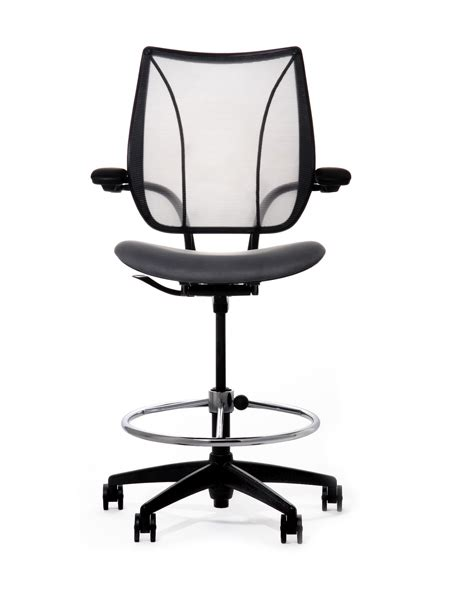 Stand Up Desk Chairs Humanscale Liberty Mesh Drafting Chair Seated