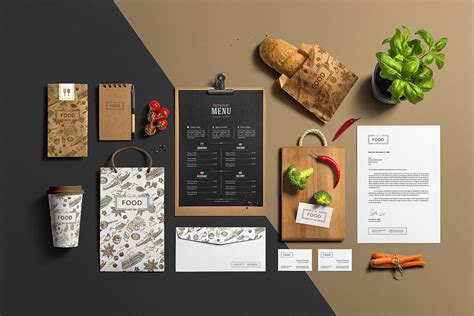 menu design mockup restaurant bar stationery branding mockup mockup cloud