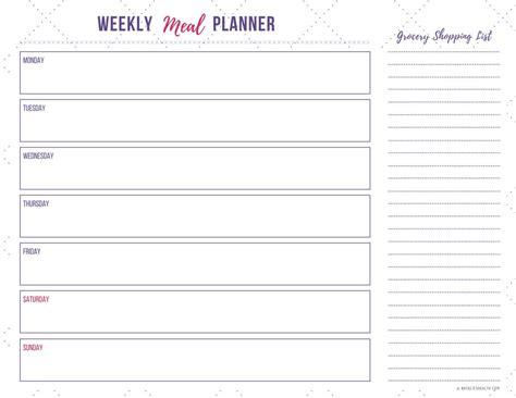 simple printable weekly planner how to start meal planning in 3 simple steps natalie s