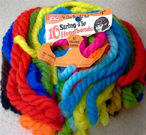how to tie yarn into hair 1968 solo quot string tie headbands quot yarn hair ribbons lot of