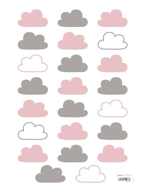Wandtattoo Kinderzimmer Wolken by Lilipinso Kinderzimmer Wandtattoo Wolken Rosa Grau 23