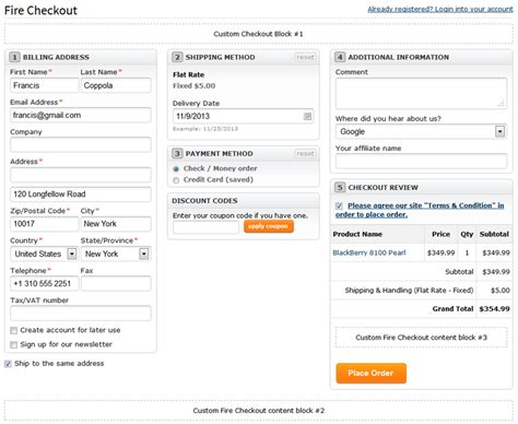 firecheckout user manual templates master