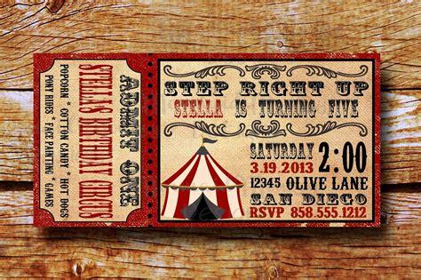 vintage circus invitation template free vintage circus invitation birthday circus invitation