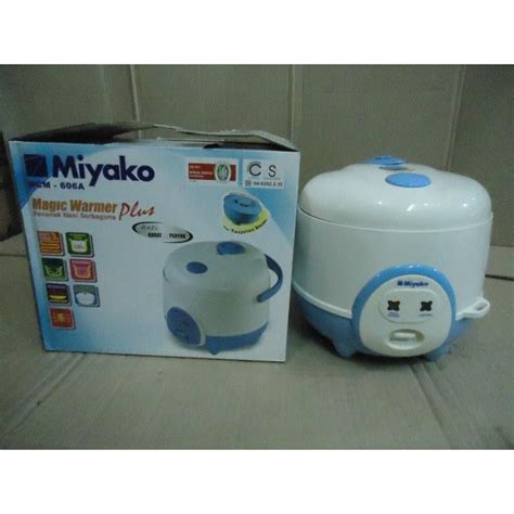 miyako mcm 612 rice cookermagic magic jar garansi