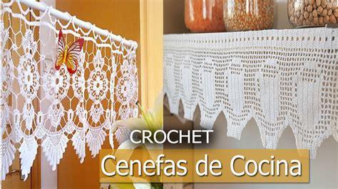 cenefas  cocina tejidas  crochet disenos ideas youtube