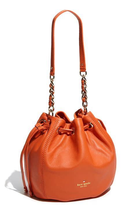 kate spade kate spade cobble hill katie drawstring shoulder bag in orange orange sherbert lyst