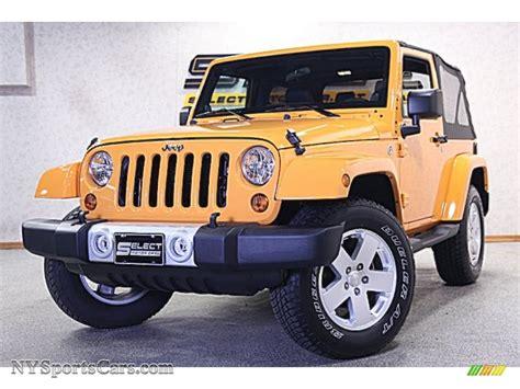 Jeep Wrangler Yellow For Sale 2012 Jeep Wrangler 4x4 In Dozer Yellow 207277