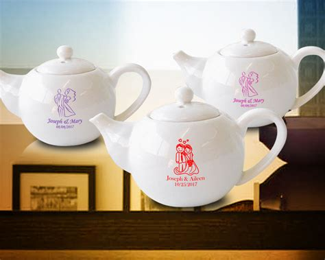 Custom Mini Teapots wedding personalized mini tea pots