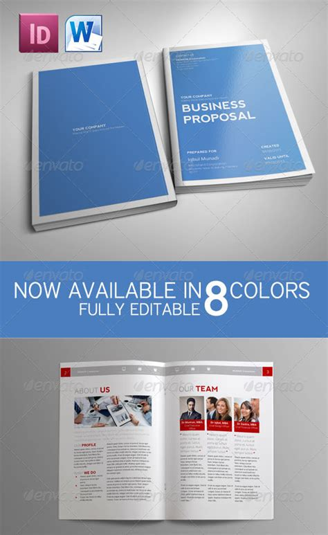 How To Customize A Simple Business Proposal Template In Ms Word Graphic Design Business Plan Template