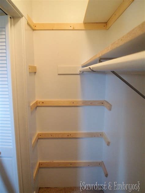 How To Build Shelves In A Closet For Storage by Custom Closet Shelving A Tutorial Reality Daydream