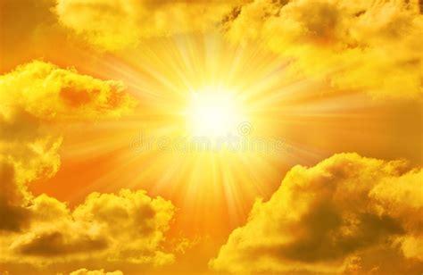 Sky Gold golden gold sky sun clouds stock photo image of