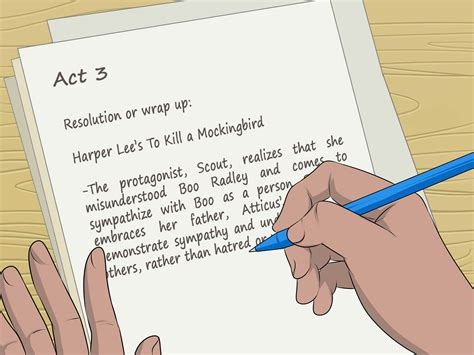 how to write a plot for a book report 4 ways to write a plot outline wikihow