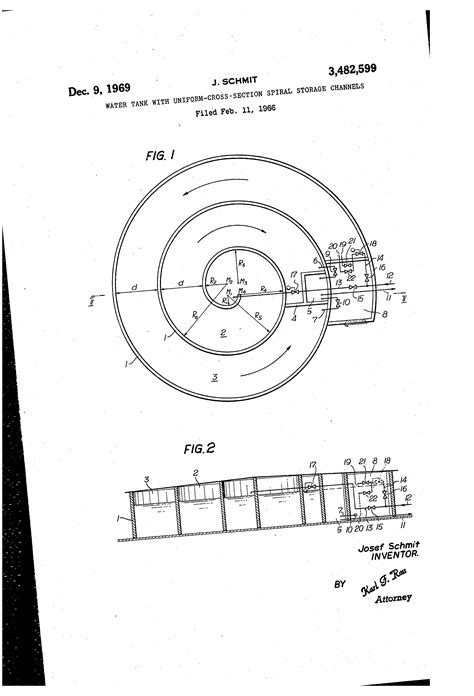 uniform cross section patent us3482599 water tank with uniform cross section