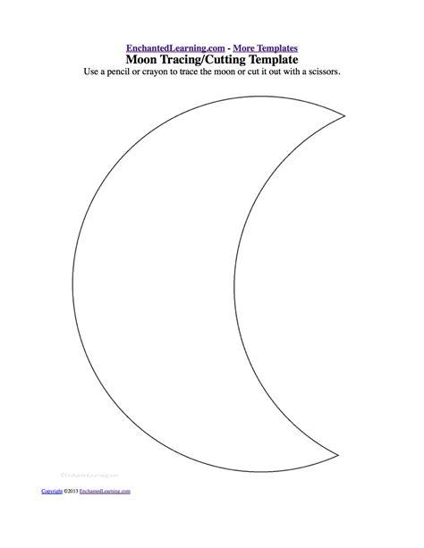 printable moon shapes best photos of moon templates printable free printable