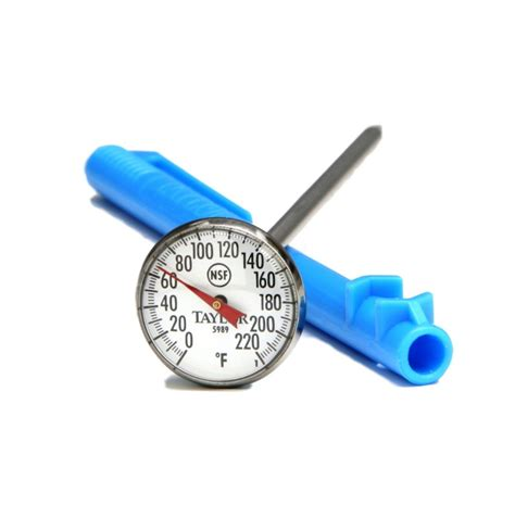 using a quick read meat thermometer when grilling outdoors