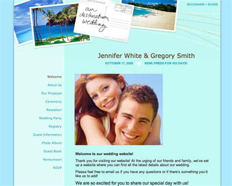 Destination Wedding Website Template Wedding Planning 101 Build An Awesome Wedding Website