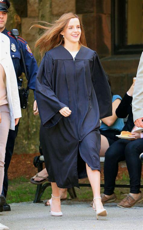 emma watson graduation emma watson graduates from brown university in providence