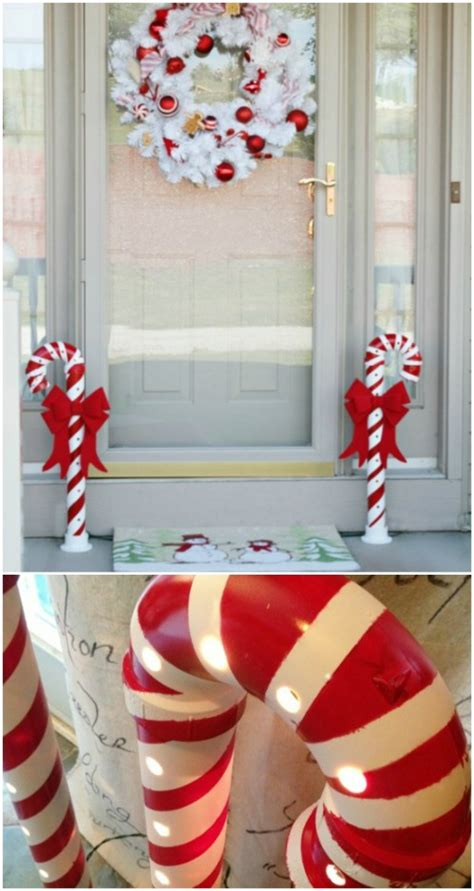 lighted pvc canes diy home decor diy show diy decorating and home 30 magically festive string and light diys for decorating page 2 of 2 diy
