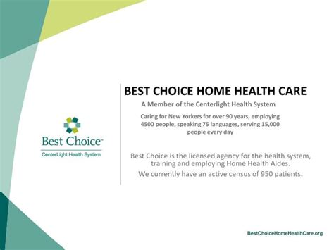 ppt best choice home health care powerpoint presentation