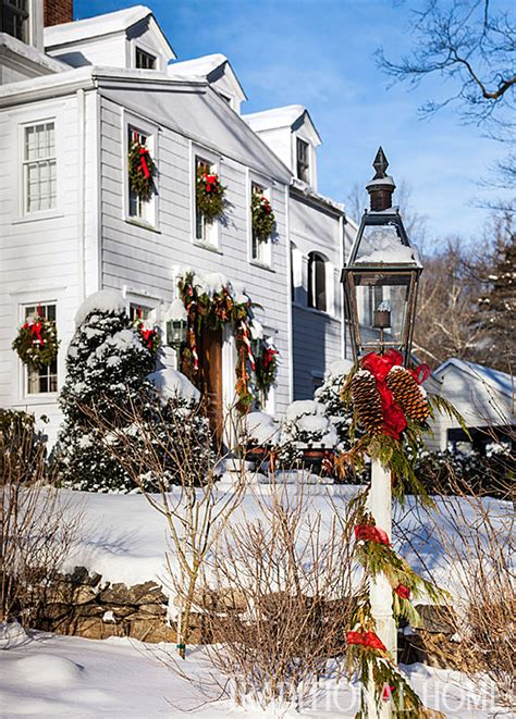 new home christmas decoration christmas in a new england clapboard traditional home