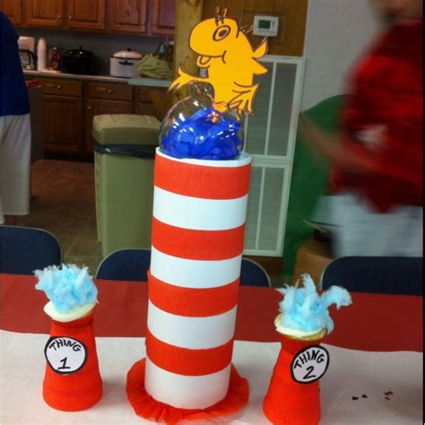 cat and the hat table decorations dr seuss pinterest