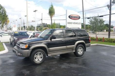 Toyota Service West Palm Buy Used 2000 4runner Limited Leather Moonroof Fl In West