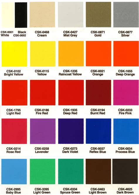 silk color color chart silk screen ink selector