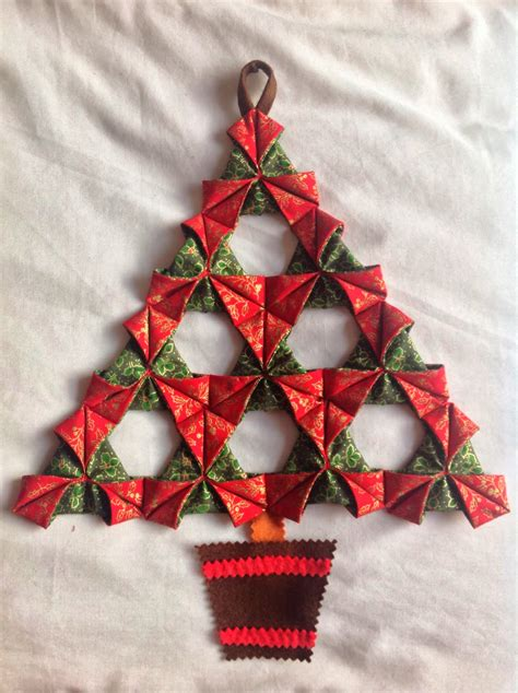 folded fabric christmas tree a tutorial little by