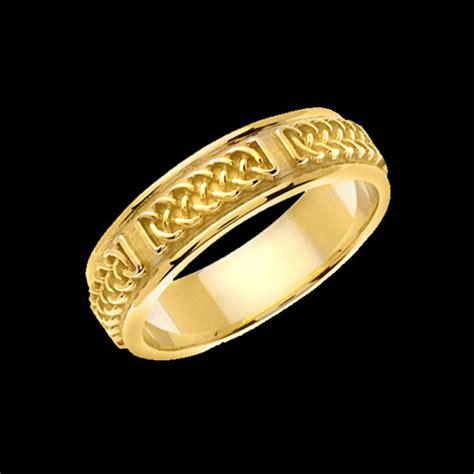 celtic inspired braid wedding band
