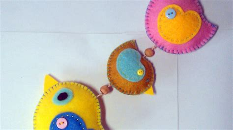 Embroidered Home Decor Fabric by Make A Cute Hanging Felt Bird Decoration Diy Home