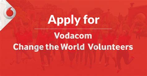 vodacom youth skills development programme apply for the vodacom change the world volunteer programme