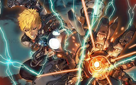 wallpaper hd anime one punch man 28 genos hd wallpapers download