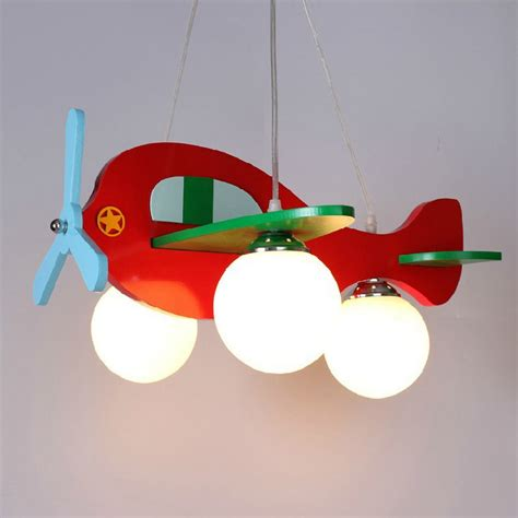 kids bedroom light fixtures children model plane bedroom pendant ls glass lshade