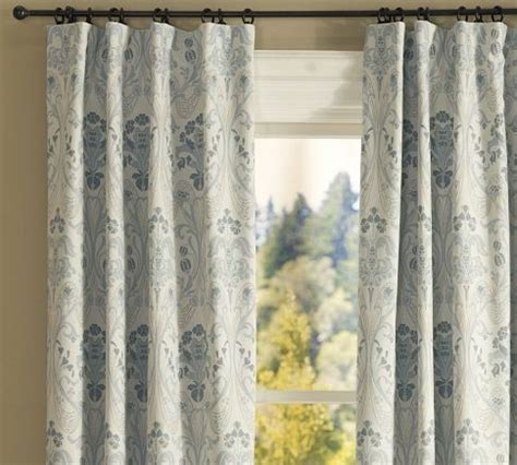 curtains pottery barn simonetta drape with blackout liner traditional