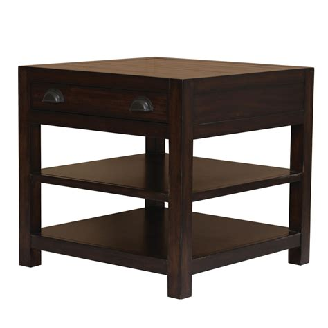 Occasional Solid Wood Living Room End Side Table Storage Living Room End Tables With Drawers