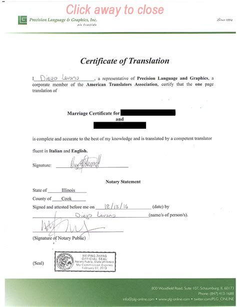 Italian Records Translation Birth Certificate Template Choice Image Templates Exle Free