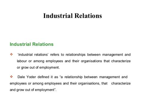 Industrial Relations Notes For Mba Students by Mba Ii Hrm U 4 4 Industrial Relations