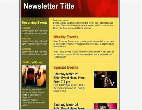 club newsletter templates creative html email newsletter templates for web designers