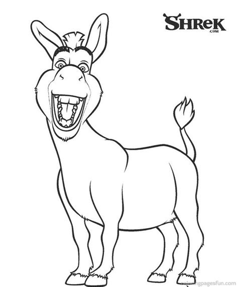 coloring pages of donkey from shrek shrek coloring pages az coloring pages