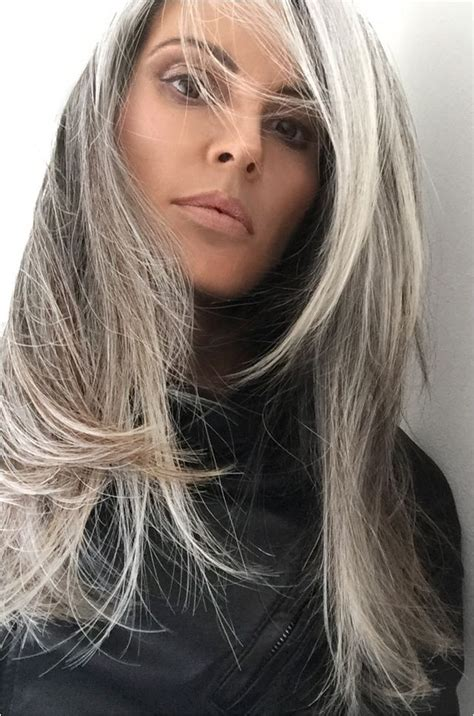streaks for gray hair 678 best style and pretty hair images on pinterest