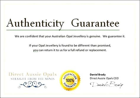 workstation authentication certificate template jewelry certificate of authenticity sle choice image