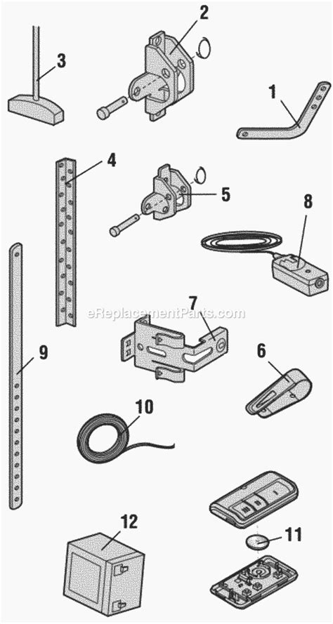 Chamberlain Garage Door Replacement Parts Chamberlain Wd962kev Parts List And Diagram Ereplacementparts