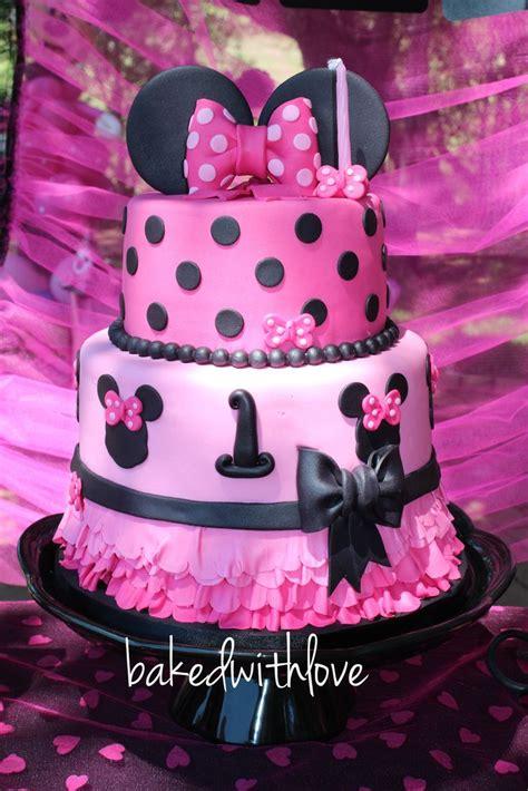 pin  mariana diaz  cakes cakes cakes cake minnie birthday party cakes