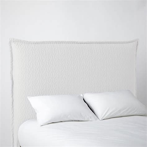 west elm white headboard matelasse slipcover headboard white west elm bed