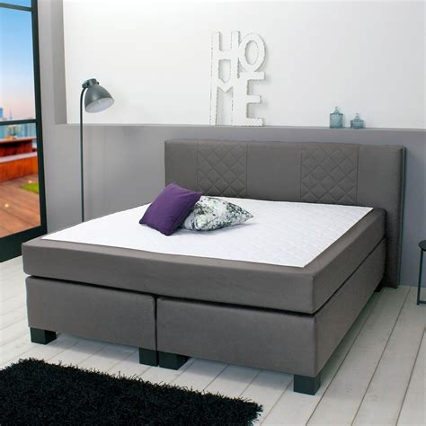boxspringbett mit taschenfederkern matratze boxspringbett helsinki 140x200 stoff grau d 228 nisches