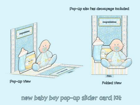pop up slider card template new baby boy pop up slider card kit cup126325 376